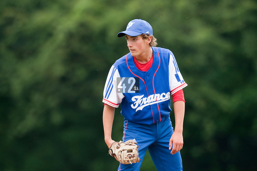 Baseball - 2009 European Championship Juniors (under 18 years old) - Bonn (Germany) - 03/08/2009 - Day 1 - Sebastien Neumann (France)