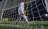 Goalkeeper Matt Ingram of Wycombe Wanderers reaches for a drink as Oxford celebrate there goal during the Sky Bet League 2 match between Wycombe Wanderers and Oxford United at Adams Park, High Wycombe, England on 19 December 2015. Photo by Andy Rowland.