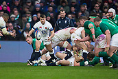 17th March 2018, Twickenham, London, England; NatWest Six Nations rugby, England versus Ireland; Richard Wigglesworth of England clears the ball