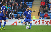 30th September 2017, Cardiff City Stadium, Cardiff, Wales; EFL Championship football, Cardiff City versus Derby County; Lee Tomlin of Cardiff City takes the freekick late in the game but nothing comes of it