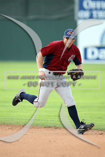 July 4th 2008: Anthony Scelfo of the Hudson Valley Renegades, Class-A affiliate of the Tampa Bay Rays, during a game at Dwyer Stadium in Batavia, NY.  Photo by:  Mike Janes/Four Seam Images