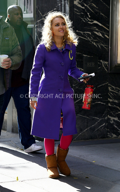WWW.ACEPIXS.COM<br /> <br /> November 6 2013, New York City<br /> <br /> Actress AnnaSophia Robb was on the set of the TV show 'The Carrie Diaries' on The Upper East Side on November 6 2013 in New York City<br /> <br /> By Line: Philip Vaughan/ACE Pictures<br /> <br /> ACE Pictures, Inc.<br /> tel: 646 769 0430<br /> Email: info@acepixs.com<br /> www.acepixs.com