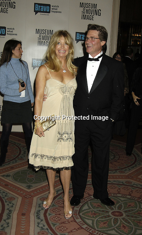 Goldie Hawn and Kurt Russell ..at The Museum Of The Moving Image Salute to Ron Howard on December 4, 2005 at The Waldorf Astoria Hotel. ..Photo by Robin Platzer, Twin Images