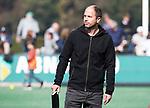 BLOEMENDAAL  - Teleurstelling bij Bl'daal coach Teun de Nooijer.  Hoofdklasse competitie dames, Bloemendaal-Laren (1-5) FOTO KOEN SUYK