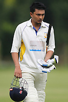 R Patel of Rainham is out during Bentley CC (Bowling) vs Rainham CC, T Rippon Mid Essex Cricket League Cricket at Coxtie Green Road on 9th June 2018