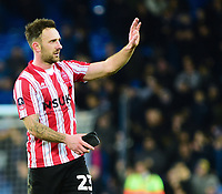 Lincoln City's Neal Eardley waves to the fans at the final whistle<br /> <br /> Photographer Andrew Vaughan/CameraSport<br /> <br /> Emirates FA Cup Third Round - Everton v Lincoln City - Saturday 5th January 2019 - Goodison Park - Liverpool<br />  <br /> World Copyright &copy; 2019 CameraSport. All rights reserved. 43 Linden Ave. Countesthorpe. Leicester. England. LE8 5PG - Tel: +44 (0) 116 277 4147 - admin@camerasport.com - www.camerasport.com