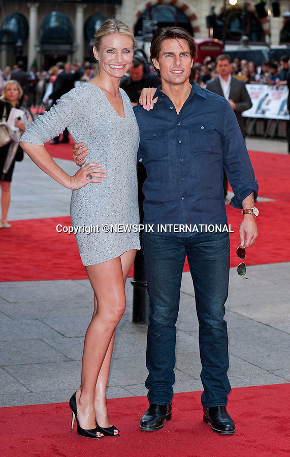 """CAMERON DIAZ and TOM CRUISE.Attend the UK premiere of Knight and Day, London_England_22/07/2010..Mandatory Photo Credit: ©Dias/Newspix International..**ALL FEES PAYABLE TO: """"NEWSPIX INTERNATIONAL""""**..PHOTO CREDIT MANDATORY!!: NEWSPIX INTERNATIONAL(Failure to credit will incur a surcharge of 100% of reproduction fees)..IMMEDIATE CONFIRMATION OF USAGE REQUIRED:.Newspix International, 31 Chinnery Hill, Bishop's Stortford, ENGLAND CM23 3PS.Tel:+441279 324672  ; Fax: +441279656877.Mobile:  0777568 1153.e-mail: info@newspixinternational.co.uk"""