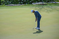 Tommy Fleetwood (ENG) watches his putt on 2 during day 2 of the World Golf Championships, Dell Match Play, Austin Country Club, Austin, Texas. 3/22/2018.<br /> Picture: Golffile | Ken Murray<br /> <br /> <br /> All photo usage must carry mandatory copyright credit (&copy; Golffile | Ken Murray)