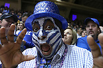 31 December 2014: Duke fan, a Cameron Crazies celebrating New Year's Eve. The Duke University Blue Devils hosted the Wofford College Terriers at Cameron Indoor Stadium in Durham, North Carolina in a 2014-16 NCAA Men's Basketball Division I game.