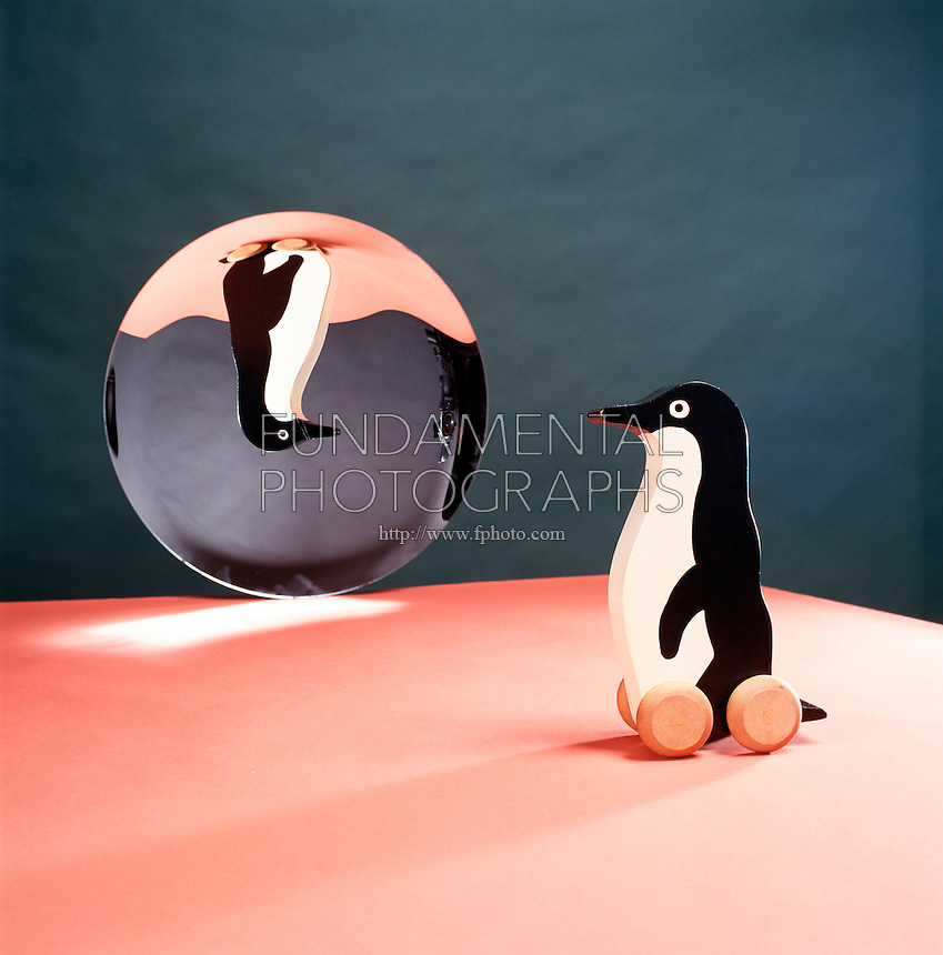 TOY REFLECTED IN CONCAVE (PARABOLIC) MIRROR (1 of 2)<br />
