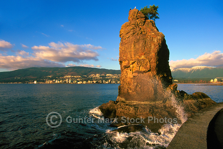 Stanley Park, Vancouver, BC, British Columbia, Canada - Siwash Rock along English Bay