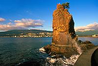Stanley Park, Vancouver, BC, British Columbia, Canada - Siwash Rock along English Bay