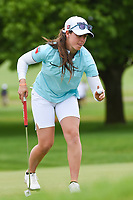 Nuria Iturrioz (ESP) after sinking her putt on 1 during the round 3 of the KPMG Women's PGA Championship, Hazeltine National, Chaska, Minnesota, USA. 6/22/2019.<br /> Picture: Golffile | Ken Murray<br /> <br /> <br /> All photo usage must carry mandatory copyright credit (© Golffile | Ken Murray)