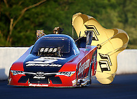 May 13, 2016; Commerce, GA, USA; NHRA funny car driver Cruz Pedregon during qualifying for the Southern Nationals at Atlanta Dragway. Mandatory Credit: Mark J. Rebilas-USA TODAY Sports
