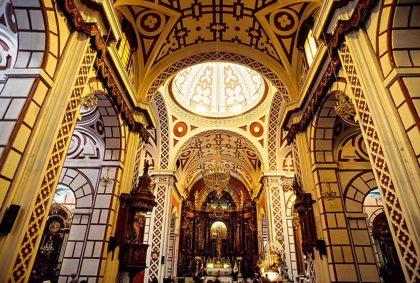 Moorish style interior, San Francisco Church, Centro, Lima, Peru