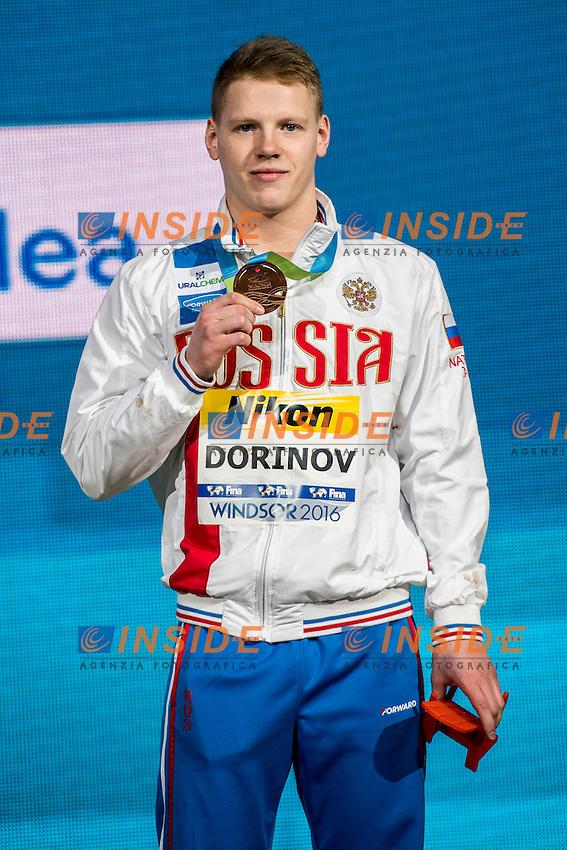 DORINOV Mikhail RUS Bronze Medal<br /> Men's 200m Breaststroke<br /> 13th Fina World Swimming Championships 25m <br /> Windsor  Dec. 8th, 2016 - Day03 Finals<br /> WFCU Centre - Windsor Ontario Canada CAN <br /> 20161208 WFCU Centre - Windsor Ontario Canada CAN <br /> Photo &copy; Giorgio Scala/Deepbluemedia/Insidefoto