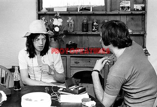 Mick Jagger & Tony Norman 1969.© Chris Walter.
