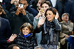 Chelsea's Antonio Conte's wife Elisabetta and daughter Vittoria wave to him during the champions league match at Stamford Bridge Stadium, London. Picture date 12th September 2017. Picture credit should read: David Klein/Sportimage