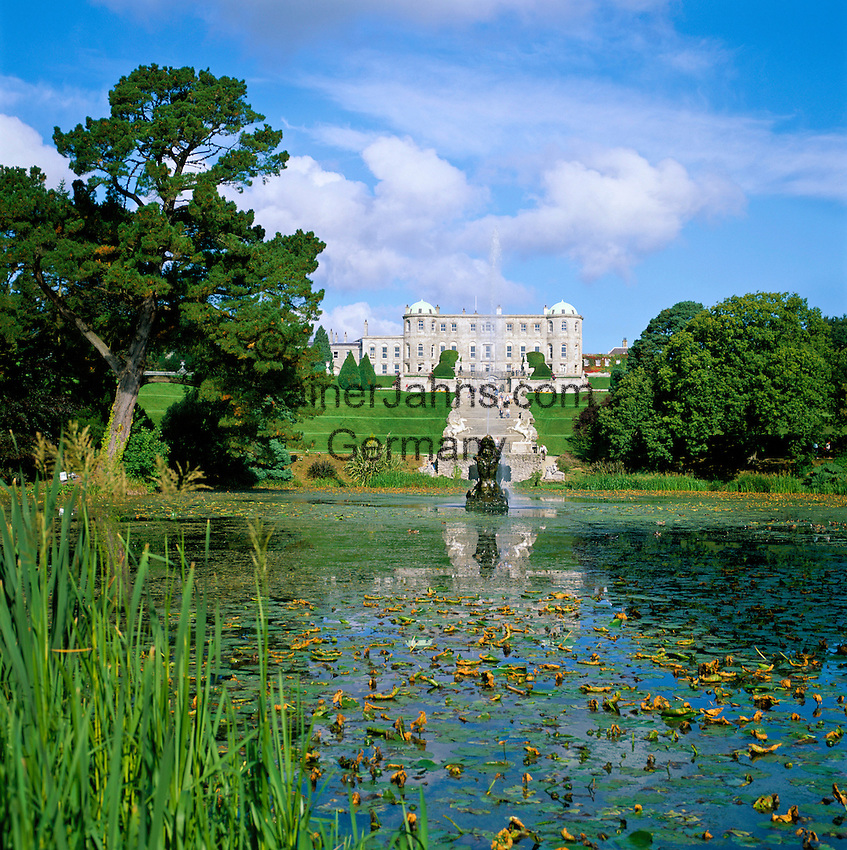 Ireland, County Wicklow, 20 Km sueldich von Dublin bei Enniskerry: Powerscourt House & Gardens | Irland, County Wicklow, 20 Km sueldich von Dublin bei Enniskerry: Powerscourt House & Gardens