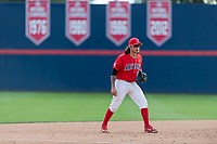 Arizona Wildcats third baseman Nick Quintana (13) during an NCAA game against the NDSU Bison at Hi Corbett Field on March 11, 2018 in Tucson, Arizona. Arizona defeated North Dakota State University 11-2. (Zachary Lucy/Four Seam Images)