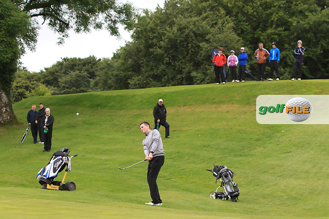 Stephen Healy (The Royal Dublin) on the 18th green during Round 4 of the Connacht Stroke Play Championship at Athlone Golf Club Sunday 11th June 2017.<br /> Photo: Golffile / Thos Caffrey.<br /> <br /> All photo usage must carry mandatory copyright credit     (&copy; Golffile   Thos Caffrey)