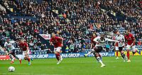 Preston North End's Daniel Johnson scores his side's second goal from the penalty spot<br /> <br /> Photographer Alex Dodd/CameraSport<br /> <br /> The EFL Sky Bet Championship - Preston North End v Bristol City - Saturday 28th September 2019 - Deepdale Stadium - Preston<br /> <br /> World Copyright © 2019 CameraSport. All rights reserved. 43 Linden Ave. Countesthorpe. Leicester. England. LE8 5PG - Tel: +44 (0) 116 277 4147 - admin@camerasport.com - www.camerasport.com