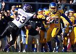 BROOKINGS, SD - OCTOBER 26:  Je Ryan Butler #22 from South Dakota State University returns a punt past Logan Bieghler #53 from Northern Iowa in the first quarter of their game Saturday afternoon at Coughlin Alumni Stadium in Brookings. Butler ran the punt back 80 yards for a touchdown. (Photo by Dave Eggen/Inertia)