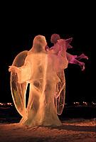 Ice sculpture by Steve Lester in Fairbanks, Alaska