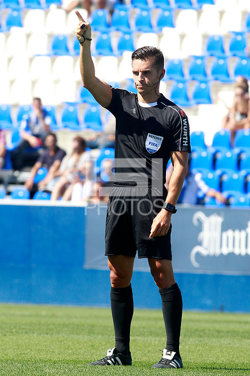 Spanish referee Carlos Del Cerro Grande during friendly match. August 12,2017.  *** Local Caption *** &copy; pixathlon<br /> Contact: +49-40-22 63 02 60 , info@pixathlon.de