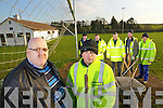 Community employment scheme workers at Ballydonoghue GAA club in north Kerry on wednesday, Pictured from left: are Stephen Keane (Supervisor) and Donal Foley and in the background from left, Eamon Deenihan, John Moran, John O'Connor, Donal O'Sullivan and James Halpin