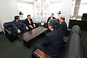 (L to R)  Toshiaki Yoshino,  Hajime Fujii,  Yoshiro Mori,   Toshiro Muto,  Yukihiko Nunomura, February 28, 2014 Yoshino Tokyo Metropolitan Assembly chairwoman and  Fujii Tokyo Metropolitan Assembly Vice chairwoman was visitation with three people of Nunomura and Muto and Mori.  at Tokyo Metropolitan Government Building,