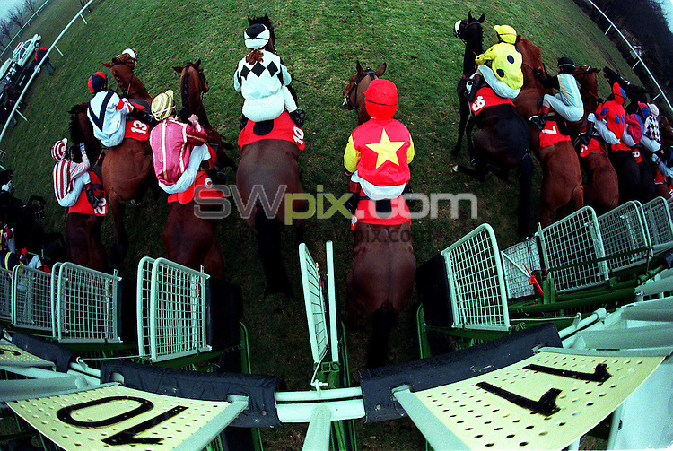 Pix:Michael Steele/SWpix...Horse Racing. 1st of the Flat at Doncaster, 1995...COPYRIGHT PICTURE>>SIMON WILKINSON..1st of the flat, Doncaster.