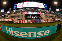 Jacksonville, FL - Thursday, April 05, 2018:  Hisense field board and scoreboard during a friendly match between USA and Mexico at EverBank Stadium.  USA defeated Mexico 4-1.