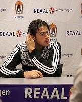 10-12-09, Rotterdam, Tennis, REAAL Tennis Masters 2009, Persconferentie Robin Haase