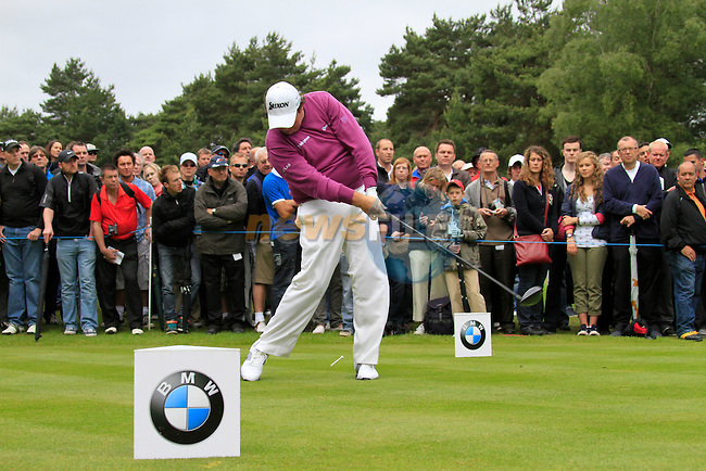 Shane Lowry (IRL) tees of on the 11th tee during Day 3 of the BMW PGA Championship Championship at, Wentworth Club, Surrey, England, 28th May 2011. (Photo Eoin Clarke/Golffile 2011)