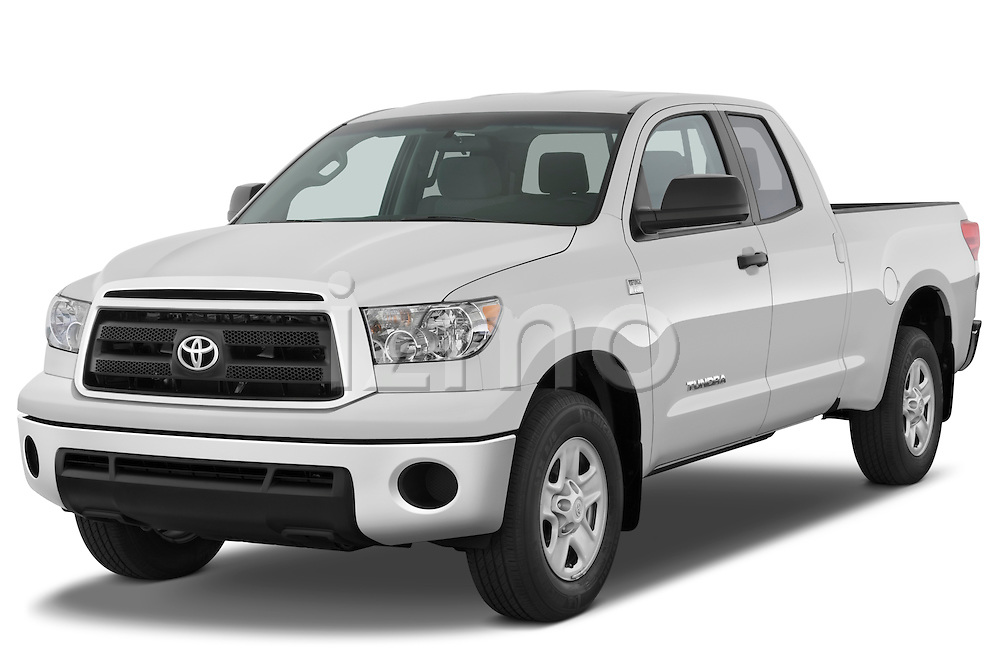 Front three quarter view of a 2010 Toyota Tundra Double Cab 2WD.