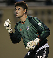 6 August 2005: Pat Onstad of the Earthquakes in action against the Crew at Spartan Stadium in San Jose, California.   Earthquakes defeated Crew, 2-1.   Credit: Michael Pimentel / ISI
