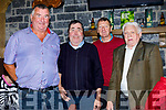 Andy Roche, James Sullivan, Liam Bell and Paddy Hickey, enjoying the Knocknagoshel Senior Citizens lunch at the Brogue Inn, Tralee, on Saturday last.