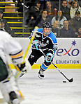30 October 2010: University of Maine Black Bears' forward Gustav Nyquist, a Junior from Malmo, Sweden, in action against the University of Vermont Catamounts at Gutterson Fieldhouse in Burlington, Vermont. The Black Bears defeated the Catamounts 3-2 in sudden death overtime. Mandatory Credit: Ed Wolfstein Photo