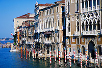 The narrow canals of Venice, Italy weave their way through the city. cityscape, waterways, urban structure, architecture. Venice, Italy.
