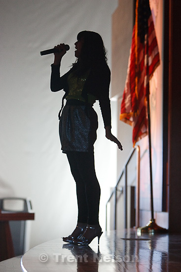 "Trent Nelson  |  The Salt Lake Tribune.Singer Jessica Lopez was part of the entertainment as a replica of Izapa Stela 5, or ""Tree of Life,"" was unveiled at the Utah Cultural Celebration Center Thursday, March 10, 2011 in West Valley City, Utah. The stone carving is interpreted by some as a representation of the Mormon story Lehi's vision of the Tree of Life."