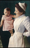 BNPS.co.uk (01202 558833)Pic: Burstow&amp;Hewett/BNPS<br /> <br /> Clara Knight, the royal nurse who looked after Queen Elizabeth<br /> <br /> Five of the Queen's dolls and a selection of her childhood clothes have emerged for sale.<br /> <br /> The garments and toys were given to the former royal nurse Clara Knight who looked after Queen Elizabeth in her early years while the Queen Mother was undertaking ceremonial duties.<br /> <br /> There are approximately 20 garments in the collection including infants dresses and matching undergarments, many in silks and linen and some in early man made fabrics.