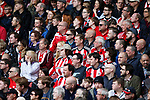 Sheffield Utd fans during the English League One match at  Bramall Lane Stadium, Sheffield. Picture date: April 30th 2017. Pic credit should read: Simon Bellis/Sportimage