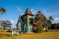 Wai'oli Hui'ia Church, Hanalei, North Shore, Kauai.
