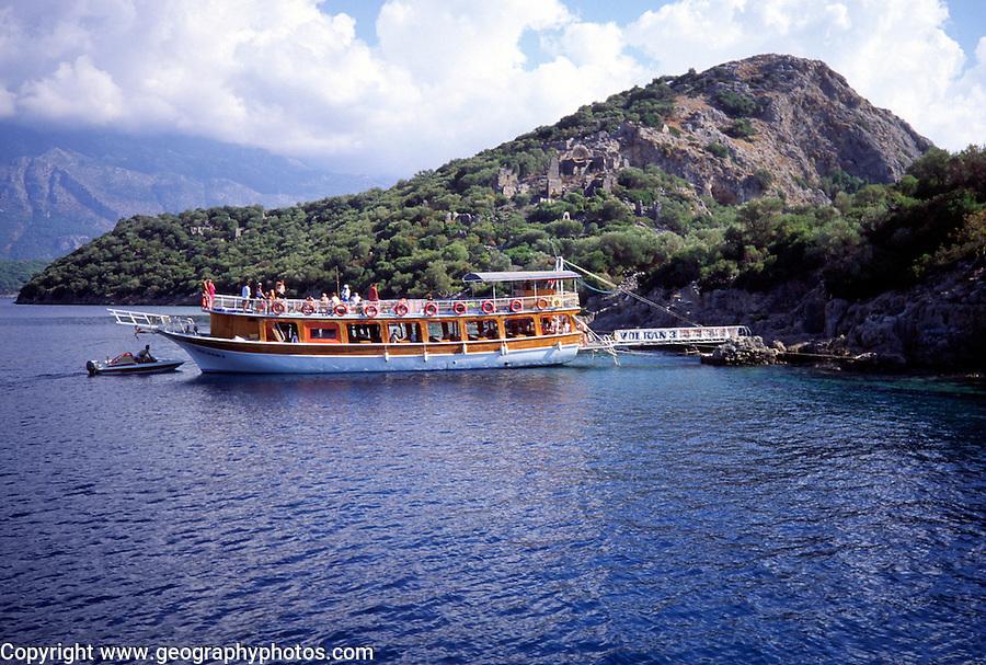 Gilet cruise boat at Saint Nicholas island, Near Oludeniz, Turkey