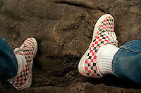 Trent feet and checkered Vans, 1987.<br />