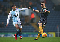 Blackburn Rovers' Bradley Dack and Sheffield Wednesdays' Tom Lee's <br /> <br /> Photographer Rachel Holborn/CameraSport<br /> <br /> The EFL Sky Bet Championship - Blackburn Rovers v Sheffield Wednesday - Saturday 1st December 2018 - Ewood Park - Blackburn<br /> <br /> World Copyright © 2018 CameraSport. All rights reserved. 43 Linden Ave. Countesthorpe. Leicester. England. LE8 5PG - Tel: +44 (0) 116 277 4147 - admin@camerasport.com - www.camerasport.com