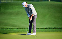 Rafael Cabrera Bello (ESP) sinks his putt on 1 during round 1 of the Shell Houston Open, Golf Club of Houston, Houston, Texas, USA. 3/30/2017.<br /> Picture: Golffile   Ken Murray<br /> <br /> <br /> All photo usage must carry mandatory copyright credit (&copy; Golffile   Ken Murray)