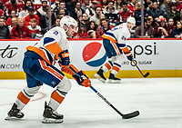 WASHINGTON, DC - JANUARY 31: Nick Leddy #2 of the New York Islanders moves into the attack during a game between New York Islanders and Washington Capitals at Capital One Arena on January 31, 2020 in Washington, DC.