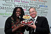 Lewa Thomas - Cupcake maker with the Leader of Glasgow City Council Councillor Gordon Matheson - photographed at Youth Enterprise Zone - Ladywell Business Park - Glasgow - 30.8.12 - 07702 319 738 - clanmacleod@btinternet.com - www.donald-macleod.com